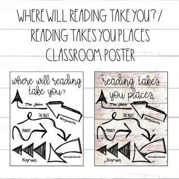 Where Will Reading Take You? / Reading Takes You Places / Arrow Poster
