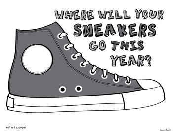 Bulletin Board Art: Where Will Your Sneakers Go This Year?