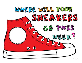 Where Will Your Sneakers Go This Week? BULLETIN BOARD ART
