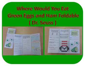 Where Would You Eat Green Eggs And Ham Foldable Dr Seuss
