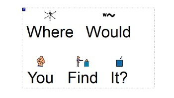 Where Would You Find It? Sorting Task - Three Levels