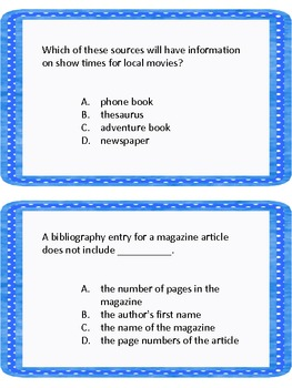 Where Would You Find the Answer? Reference Sources