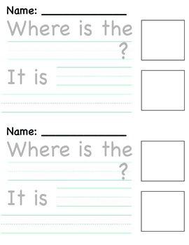 """""""Where?"""" Writing Template"""
