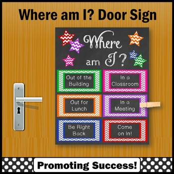 Where am I Sign for Door 8x10 16x20