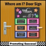 Where am I Sign, Back to School Classroom Door Sign, NOT EDITABLE