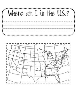Where am I in the US? Longitude and Latitude Foldable and Scoot Game