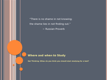Where and When to Study