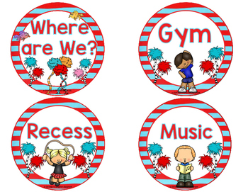 Classroom Schedule: Where are We Classroom Signs