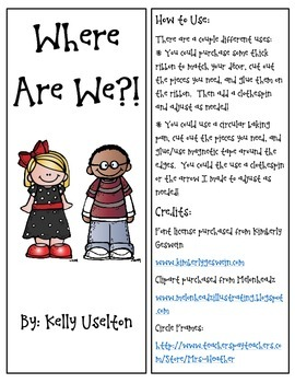 Where are We!?  Chart for your Classroom!