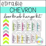 Editable Chevron Door Knob Hangers