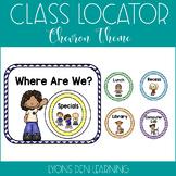 Where are We? - Class Location Cards - Bright, Colorful Chevron