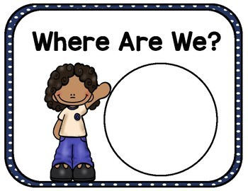 Where are We? - Class Location Cards - Bright, Colorful Polka Dots