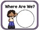 Where are We? - Class Location Cards - Bright, Colorful Solids