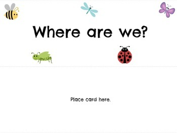 Where are We? Classroom Door Signs - BUGS!