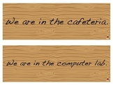 Where are We? Classroom Door Signs - Simple Wood Design