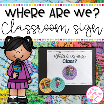 Where are We? Classroom Sign