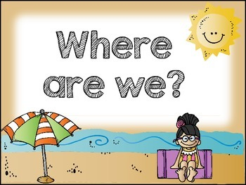 Where are We Clipchart {Beach Theme}