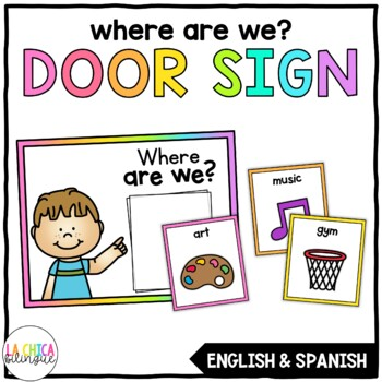 Where are We? Door Sign {English & Spanish)