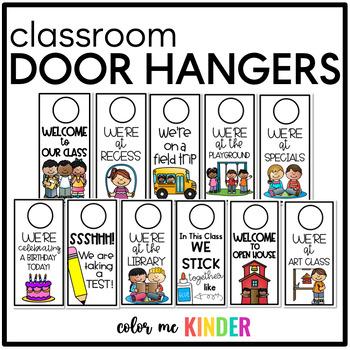 Where are We? Classroom Door Knob Hanger Pack