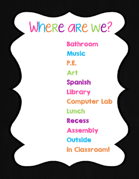 Where are We Sign (Black and Neon)