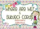 Where are We & Subject Cards - Kids & Colors Collection 2