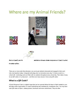 Where are my Animal Friends with Q.R.Codes