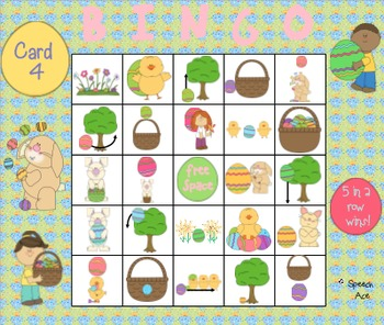 Where are the Easter Eggs: a Preposition Bingo Game