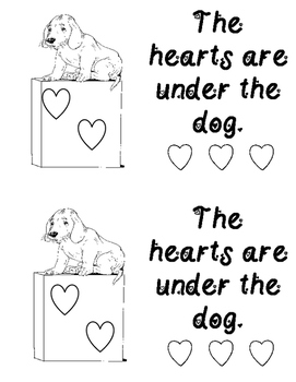Where are the Hearts? Positional Word Emergent Reader Book ** Read to Self