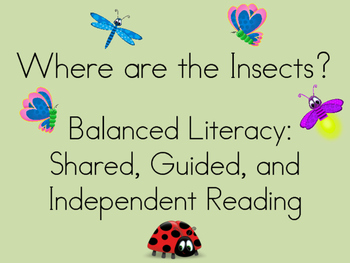 Where are the Insects? Balanced Literacy resources