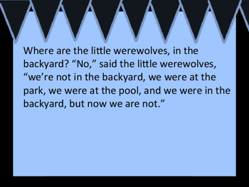 Where are the Little Werewolves? (where, were, and we're comprehension story)