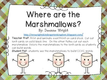Where are the Marshmallows