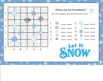 Where are the Snowflakes Graphing for Smart Board