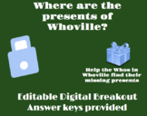 Where are the presents for Whoville? Grinch Themed Digital Holiday Breakout