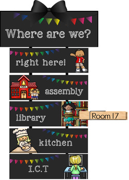 Class Location Display - Where Are We? EDITABLE