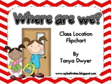 Where are we? {Class Chart}