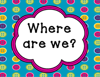 Where are we? Classroom Door Display