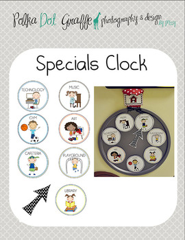 Where are we? Classroom Management Clock-Specials