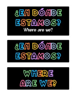 Where are we? / ¿Dónde estamos?