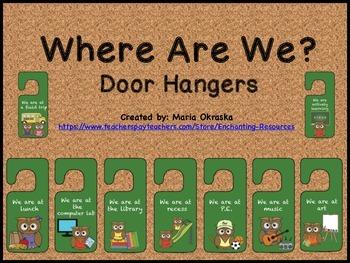 Where Are We? Door Hangers