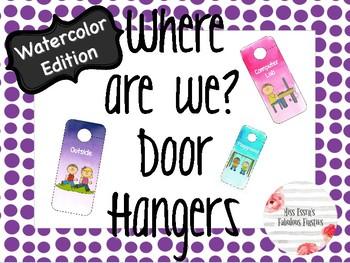 Door Hangers- Watercolor Edition
