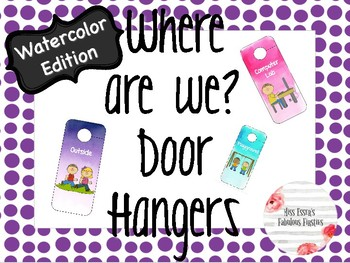 Door Hangers- Watercolor Edition