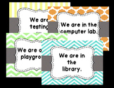 "Door Posters! ""Where are we?"" Signs 