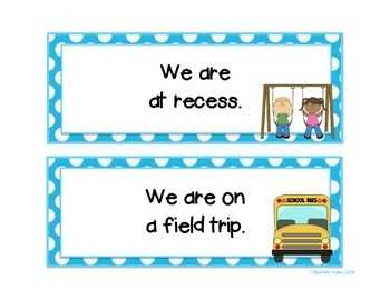 """""""Where are we?"""" Door sign with 14 interchangeable cards"""