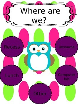 Where are we? (EDITABLE classroom door sign)