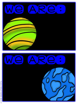 Where are we? {Editable Space Themed Cards}