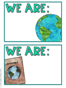 Where are we? {Editable Travel Themed Cards}
