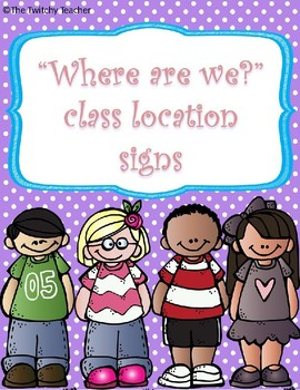 Where are we? Location Cards *Editable