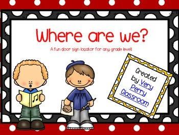 Where are we? Polka Dot themed locator signs