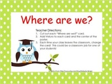 Where are we? Owl Classroom Poster