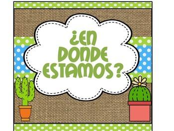 Where are we ? - SPANISH  ¿En dónde estamos?